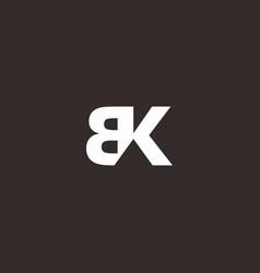Real estate logo simple letter bk vector