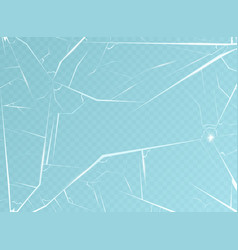 realistic detailed 3d broken blue transparent vector image