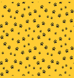 seamless pattern with dog footprints vector image