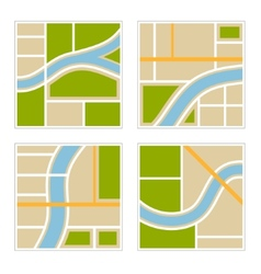 set abstract city map vector image
