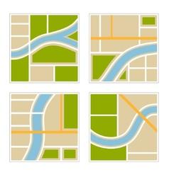 Set abstract city map vector