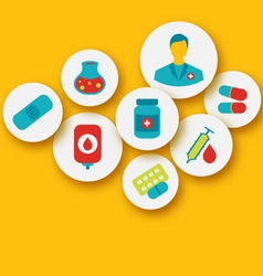 set colorful medical icons for web design vector image