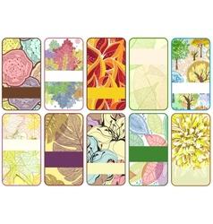 set ten colorful autumn cards vector image