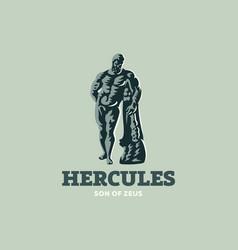 statue of hercules vector image