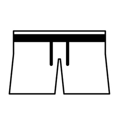 Swinwear male isolated icon vector