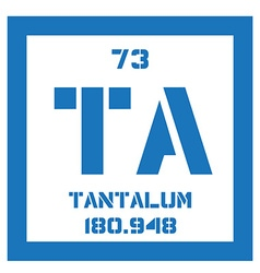 Tantalum chemical element vector