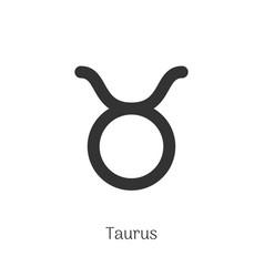 taurus zodiac sign isolated on white background vector image
