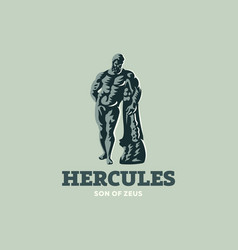 the statue of hercules vector image