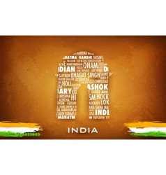 Typography India Gate vector image