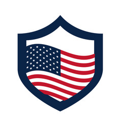 united states elections american flag in shield vector image