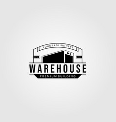 Vintage warehouse logo template vector