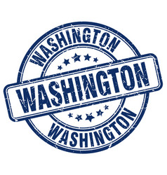 washington blue grunge round vintage rubber stamp vector image