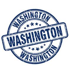Washington blue grunge round vintage rubber stamp vector