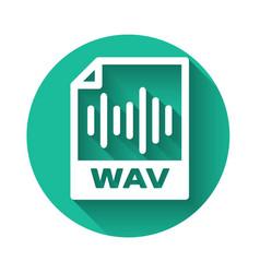 White wav file document icon download wav button vector