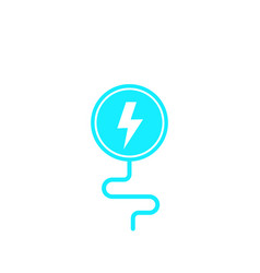 Wireless charging icon on white vector