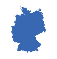 germany map on white background flat vector image