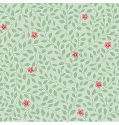 leaves pattern flowers vector image