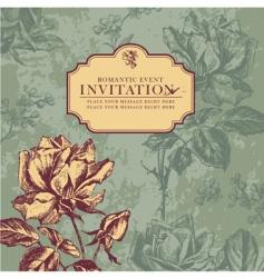 vintage rose design vector image vector image