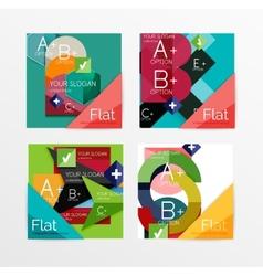 Flat design square shape infographic banner vector image