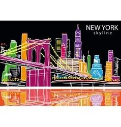 New York city vector image