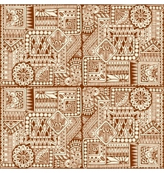 Ornamental ethnic black and white pattern with vector image