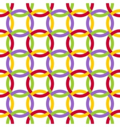 twisted circles vector image vector image