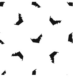 united arab emirates map pattern seamless black vector image vector image