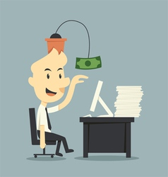Work for money vector image vector image