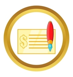 Check and pen icon vector image