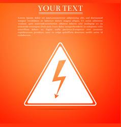 high voltage danger symbol arrow in triangle vector image vector image