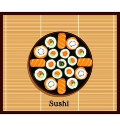 Japanese Food Sushi Design Flat vector image vector image