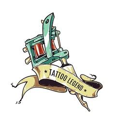 Tattoo Legend vector image vector image