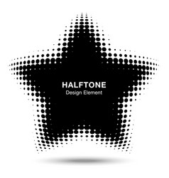 Convex abstract halftone distorted star frame vector
