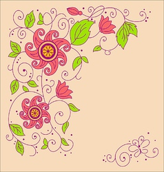 image flower vector image vector image