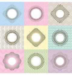 Set of geometric frames vector image