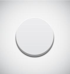 White Button vector image vector image