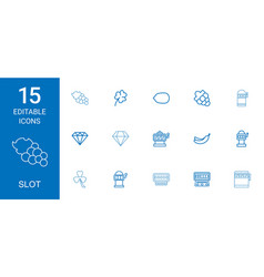 15 slot icons vector image