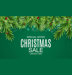 abstract christmas sale special offer background vector image