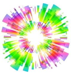 Abstract colorful explosion vector