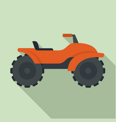 Adventure quad bike icon flat style vector