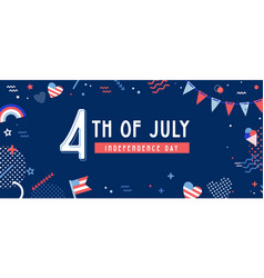 american independence day celebration web banner vector image
