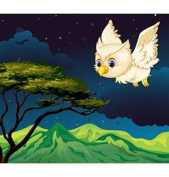 An owl flying vector