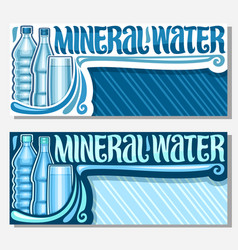 Banners for mineral water vector