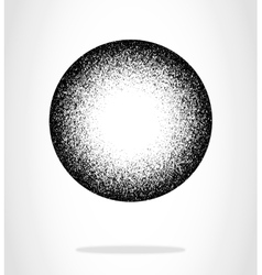 Black grunge circle vector
