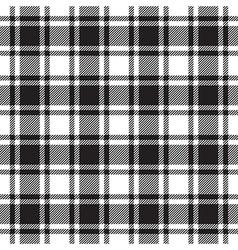Black white check plaid texture seamless pattern vector