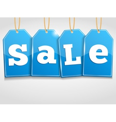 Blue Sale Tags vector image