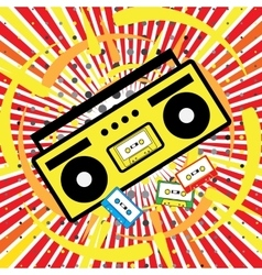 Boombox icon pop art vector
