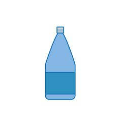 Bottle plastic fill icon blue vector