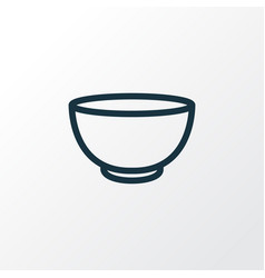 bowl icon line symbol premium quality isolated vector image