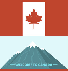 Canada country flag symbol maple leaf canadian vector